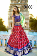 Majestic Red Colored Bridal Embroidered Lehenga Choli
