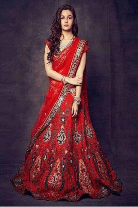 Delectable Red Colored Soft Silk Lehenga Choli