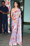 Shilpa Shetty Beige Color Digital Printed Saree