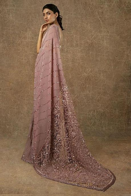 Beige Color Sequence Work Attractive Saree