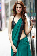 Attractive Firoji  Color Party Wear Boder Saree RR50