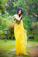 Designer Yellow Colour Embroidery Regularly Wear Saree