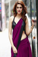 Attractive Wine Color Designer Saree