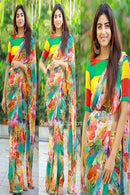 Beautiful Designer Digital Printed Saree