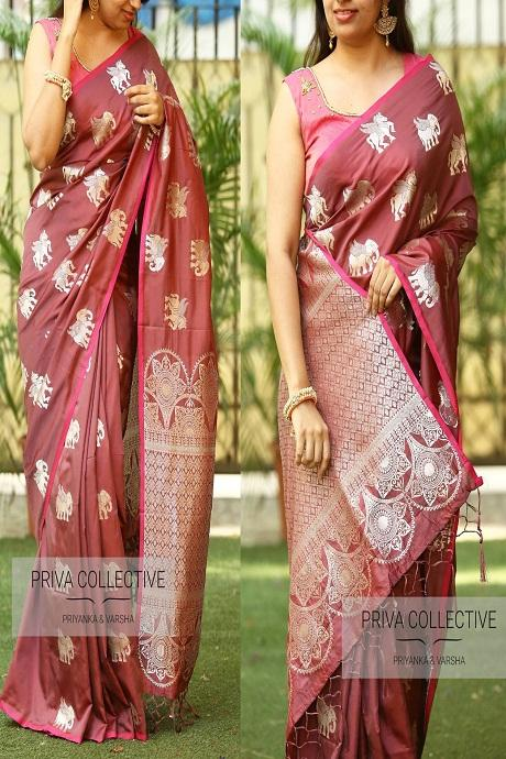 Audacious Coffee Color Occasion Wear Saree RR65