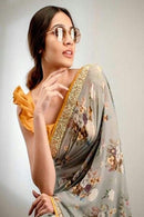 Admirable Multi Color Digital Printed Designer Saree
