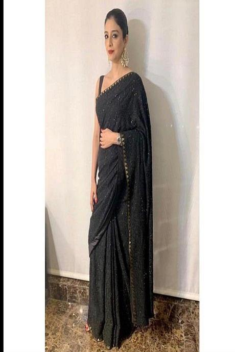 Tabu Black Color Designer Saree