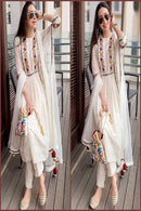 Attractive White Color Designer Salwar Kameezz
