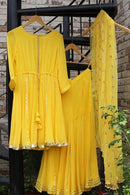 Antic Yellow Color Attractive Kurtis N Plzoo