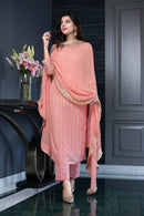 Admirable Peach Color Designer Kurti N Plazoo
