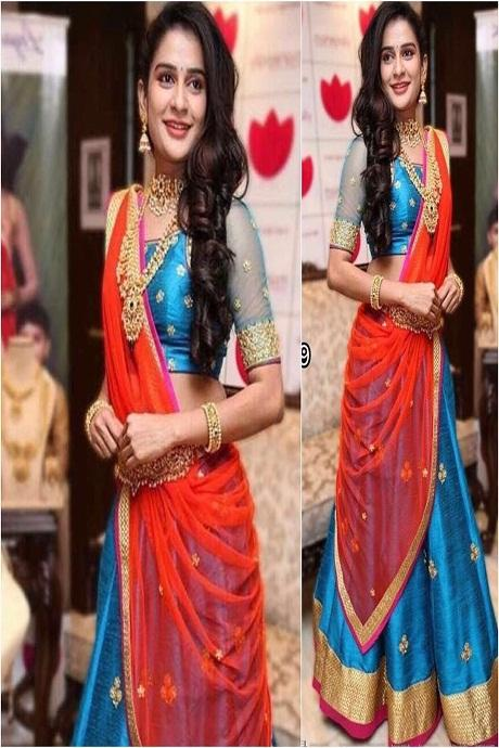 Designer Firoji Color Fashionable Lehenga Choli