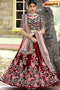 Attractive Dark Maroon Color Hand Work Designer Lehenga Choli