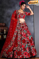 Latest Embrodey/Hand Work Satin Lehengha Choli