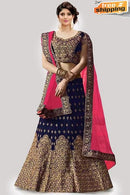 Navy Blue Color Lowest Price Designer Lehengha Choli