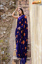 Blue Colored Designer One piece Digital Printed Saree