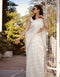 Attractive White Color One piece Pure Georgette Silk Saree