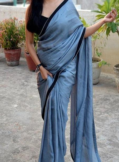 Fashionble Designer Satin Soft Silk Sarees,Sari