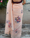 Fashionble Designer One piece Digital Printed Organdy Silk Coffe  Saree