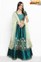 Beautiful Fashionable Latest Pure Silky Febric Designer Lehengha choli( Green )