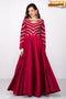 Womens Beautiful Fashionable Pure Silk Embroidery and Hand Work Latest Designer Gown (Red)