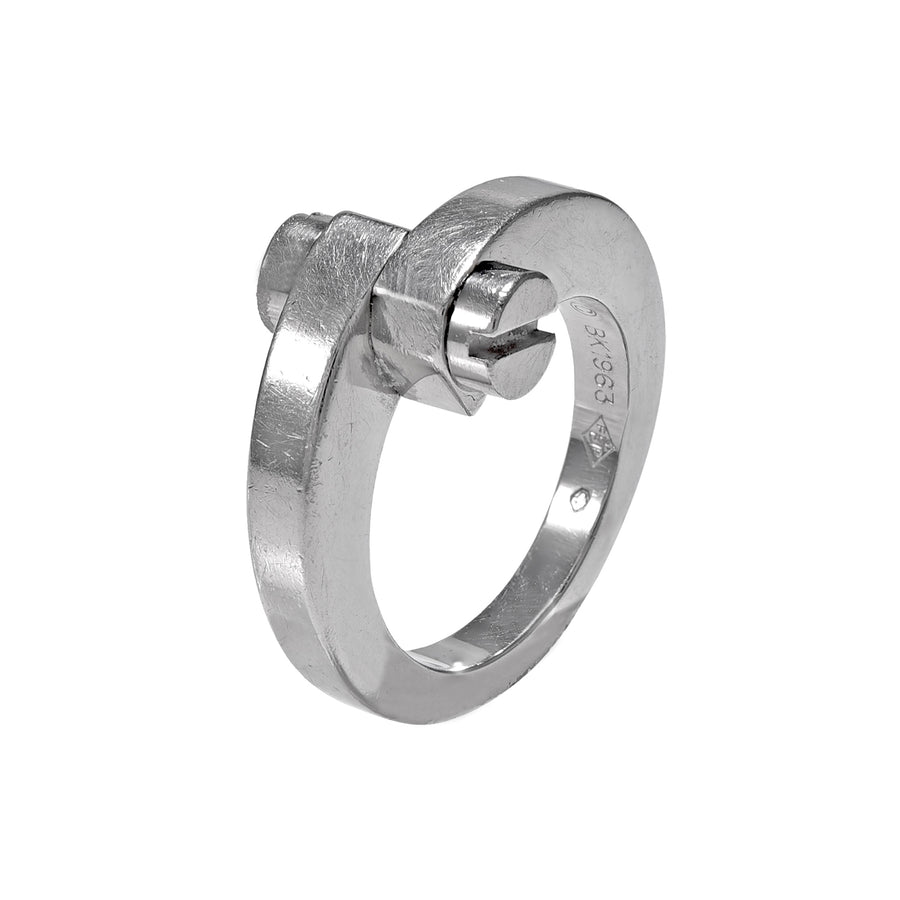 18 Karat White Gold Love Ring by Cartier