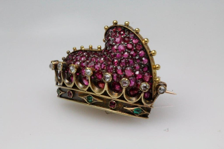 Antique Crown of the Doge of Venice Brooch