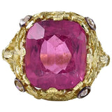 An exceptional Vivid Pink Tourmaline Ring