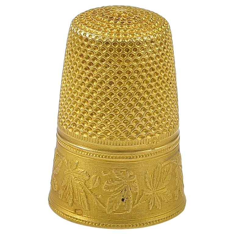 Antique French 18 karat Gold Thimble - Little Object for Your Cabinet of Curiosities