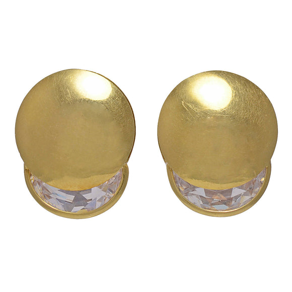 Gucci Rock Crystal Gold Earrings