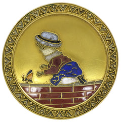 A charming 19th century Enamel & Gold Brooch
