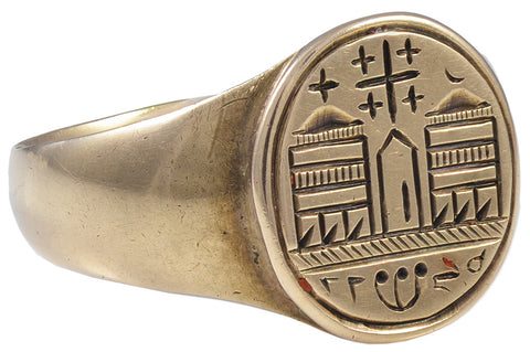 A 19th Century Gold Intaglio Signet Ring