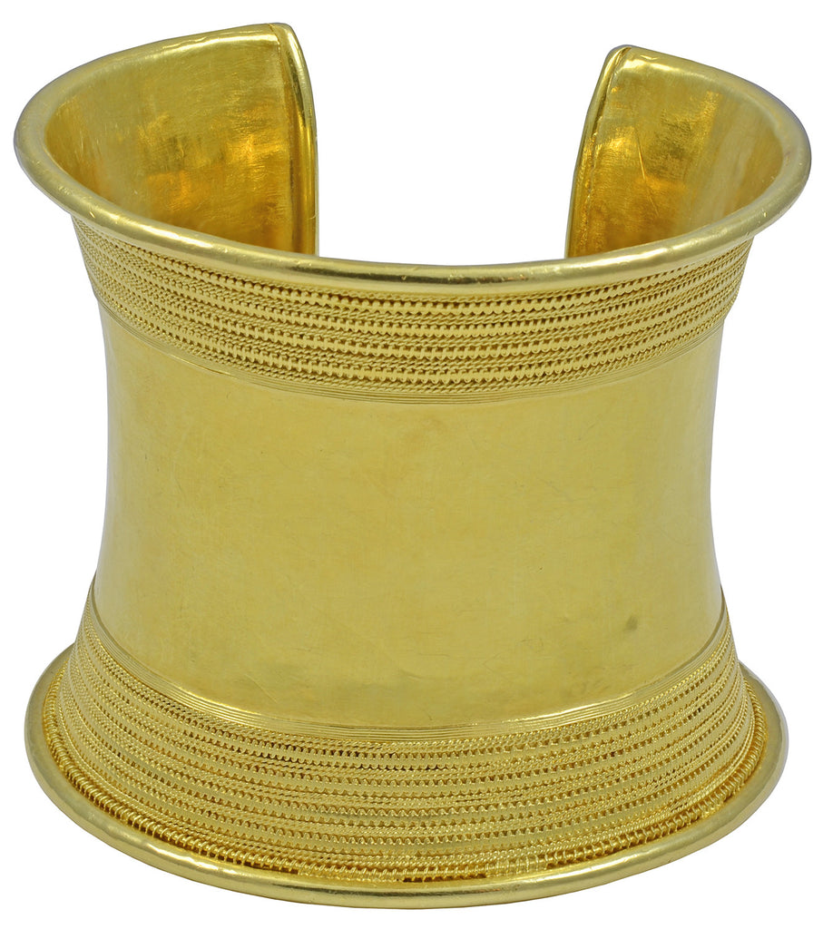 An Amazing 22 kt Gold  Bangle in Ancient Greek Revivalist Style