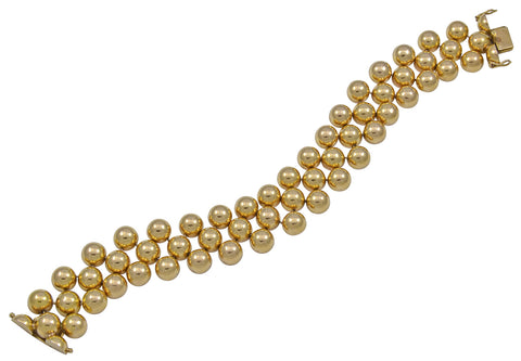 A very flexible Gold Bracelet of interesting design