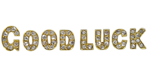 "A Victoria Gold & Rose Diamond ""Good Luck"" Brooch"