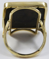 An Antique Japanese Shakudo Work Gold and Silver Ring