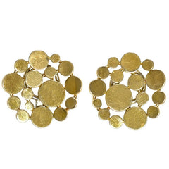 Pair of Gold Ear Clips Signed Burch