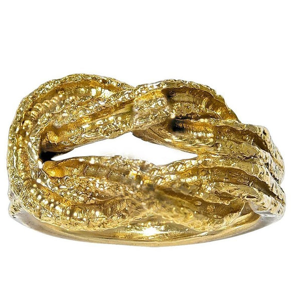 Gold Knot Ring by Ilias Lalaounis