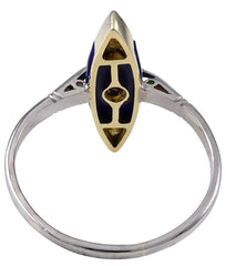 Art Deco Lapis Lazuli and Diamond Ring