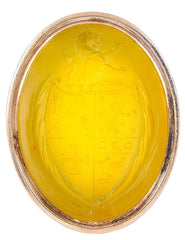 Antique Georgian 18 Karat Gold and Yellow Agate Intaglio Fob Seal