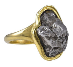 Ring Stone Not from Mother Earth in an 18 Karat Gold Mount