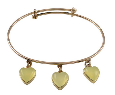 Antique Triple Heart Bangle