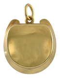 Victorian Gold and Banded Agate Horseshoe Shaped Pendant/Locket