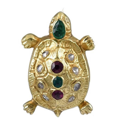 Victorian Gold and Gem Set Tortoise Brooch