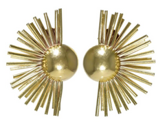A pair of 14k Gold Sunrise Ear Clips