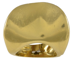 Abstract Italian Gold Ring