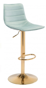 Prima Bar Chair Green & Gold