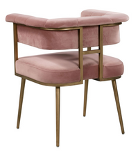 Load image into Gallery viewer, Astrid Blush Velvet Chair