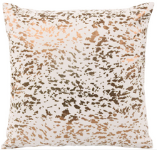 Load image into Gallery viewer, Leather Speckled Gold Pillow