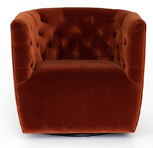 Load image into Gallery viewer, HANOVER SWIVEL CHAIR-SAPPHIRE RUST