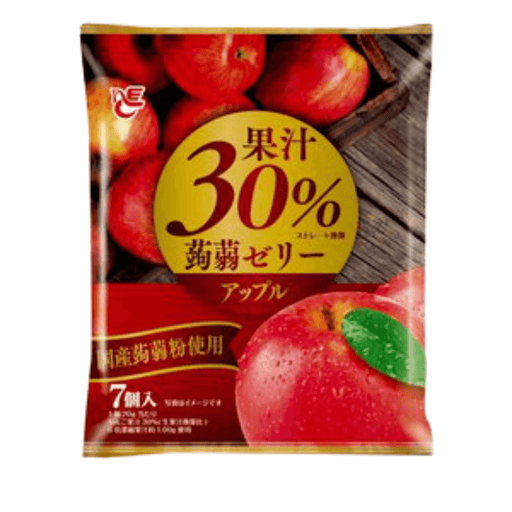 "Ace Bakery - Konnyaku Jelly Dessert ""Apple"" (Pouch Type) 140g Honeydaes - Japan Foods Grocery Online"